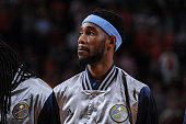 Will Barton of the Denver Nuggets stands on the court before the game against the Houston Rockets on March 19 2015 at the Toyota Center in Houston...