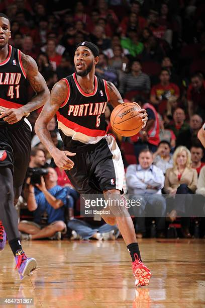 Will Barton of the Portland Trail Blazers dribbles the ball against the Houston Rockets at the Toyota Center in Houston Texas NOTE TO USER User...