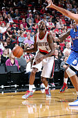 Will Barton of the Portland Trail Blazers drives against the Los Angeles Clippers on October 12 2014 at the Moda Center Arena in Portland Oregon NOTE...