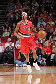 Will Barton of the Portland Trail Blazers drives up the court against the Houston Rocketsduring the game on December 22 2014 at Toyota Center in...