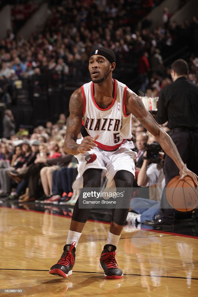 Will Barton #5 of the Portland Trail Blazers handles the ball against the Minnesota Timberwolves on March 2, 2013 at the Rose Garden Arena in Portland, Oregon.