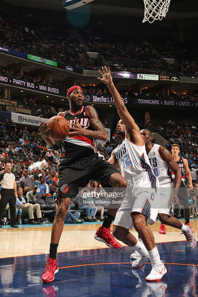 <a gi-track='captionPersonalityLinkClicked' href=/galleries/search?phrase=Will+Barton&family=editorial&specificpeople=6894020 ng-click='$event.stopPropagation()'>Will Barton</a> #5 of the Portland Trail Blazers handles the ball against the Charlotte Bobcats during the game at the Time Warner Cable Arena on March 22, 2014 in Charlotte, North Carolina.
