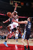 Will Barton of the Portland Trail Blazers passes the ball against the Memphis Grizzlies on November 28 2014 at the Moda Center Arena in Portland...