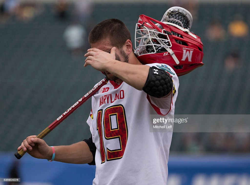 Will Bonaparte #19 of the Maryland Terrapins walks off the field after the game against the North Carolina Tar Heels in the NCAA Division I Men's Lacrosse Championship at Lincoln Financial Field on May 30, 2016 in Philadelphia, Pennsylvania. The Tar Heels defeated the Terrapins 14-13.