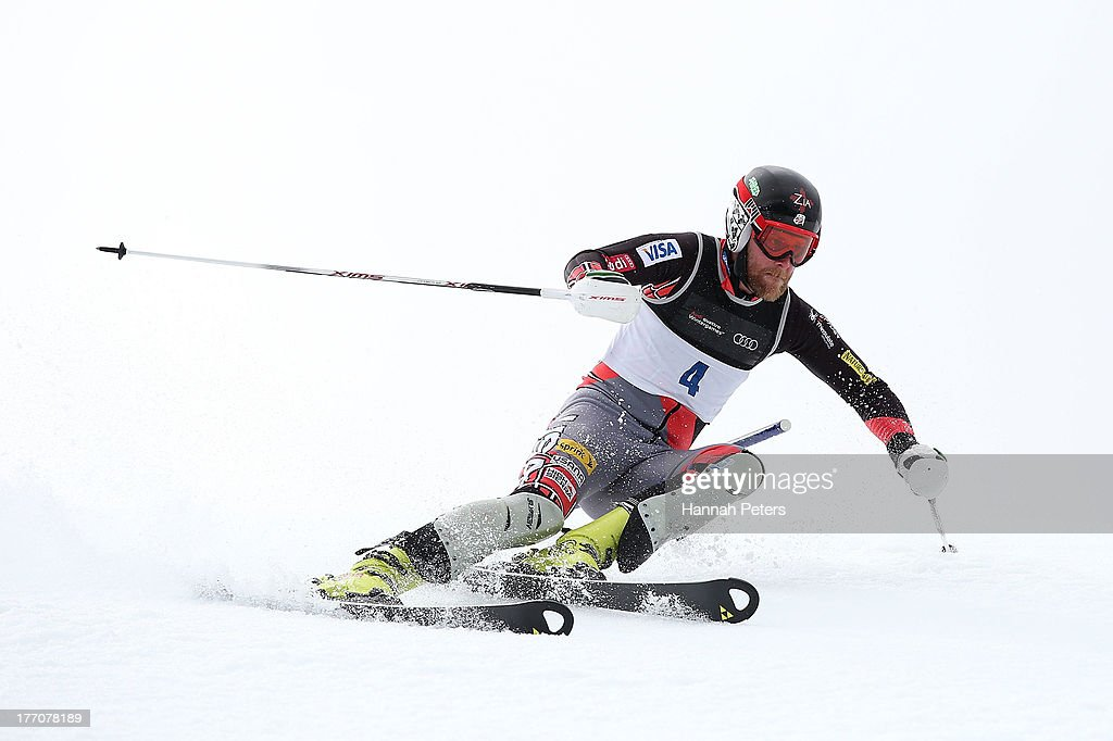 <a gi-track='captionPersonalityLinkClicked' href=/galleries/search?phrase=Will+Brandenburg&family=editorial&specificpeople=6734560 ng-click='$event.stopPropagation()'>Will Brandenburg</a> of the USA competes during the Alpine Slalom (FIS Australia New Zealand Cup) during day seven of the Winter Games NZ at Coronet Peak on August 21, 2013 in Queenstown, New Zealand.
