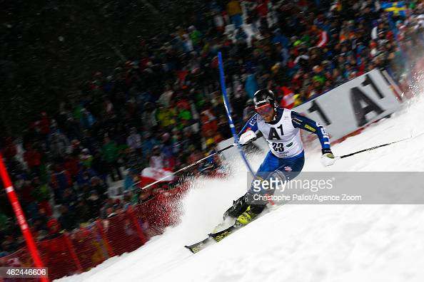 Will Brandenburg of the USA competes during the Audi FIS Alpine Ski World Cup Men's Slalom on January 27 2015 in Schladming Austria