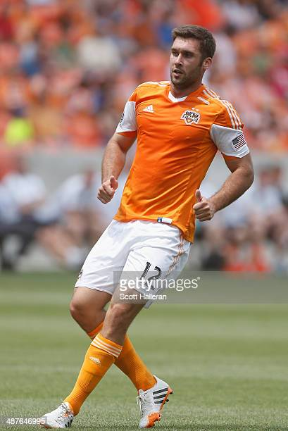 Will Bruin of the Houston Dynamo in action against the Portland Timbers during the second half of their game at BBVA Compass Stadium on April 27 2014...
