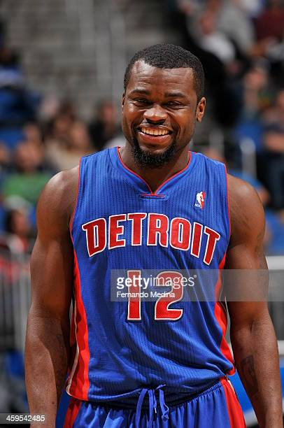 Will Bynum of the Detroit Pistons looks on against the Orlando Magic during the game on December 27 2013 at Amway Center in Orlando Florida NOTE TO...