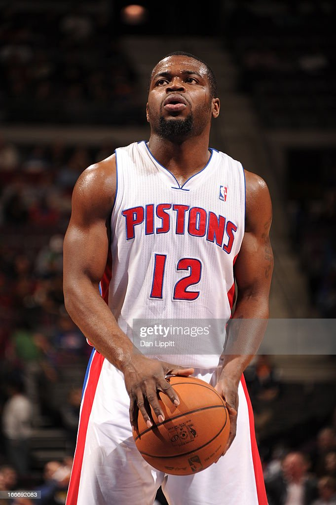 Will Bynum #12 of the Detroit Pistons looks on during the game between the Detroit Pistons and the Philadelphia 76ers on April 15, 2013 at The Palace of Auburn Hills in Auburn Hills, Michigan.