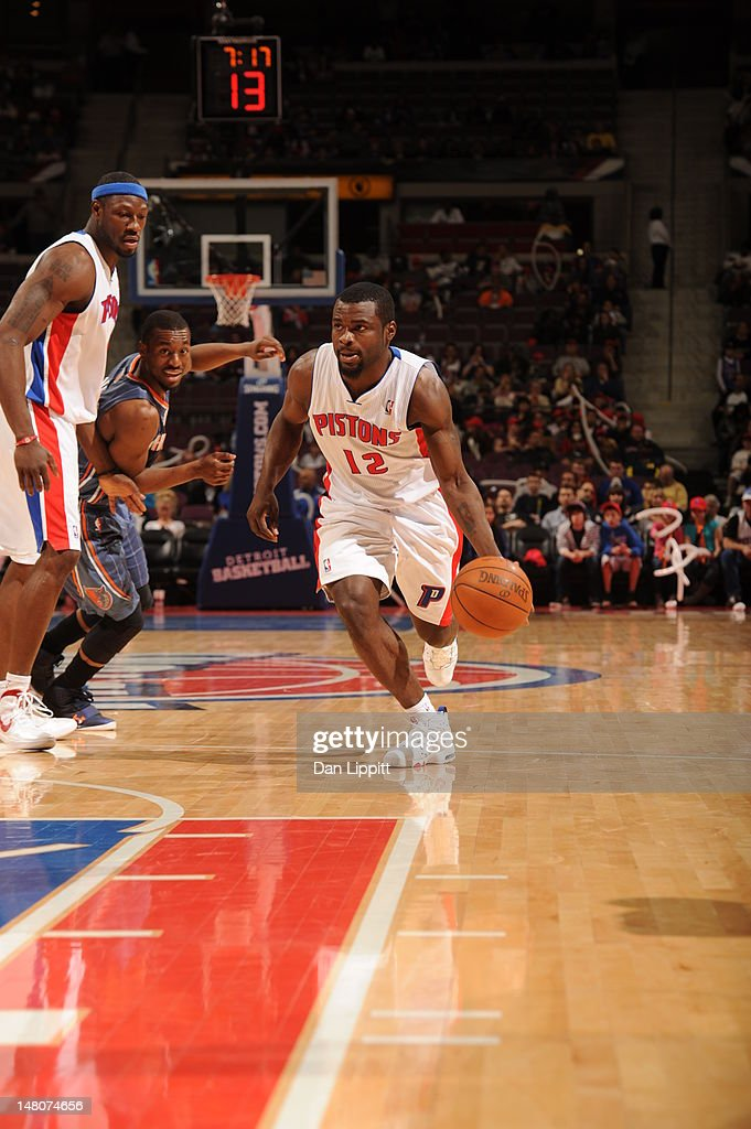 Will Bynum #12 of the Detroit Pistons moves the ball against the Charlotte Bobcats during the game on March 31, 2012 at The Palace of Auburn Hills in Auburn Hills, Michigan.