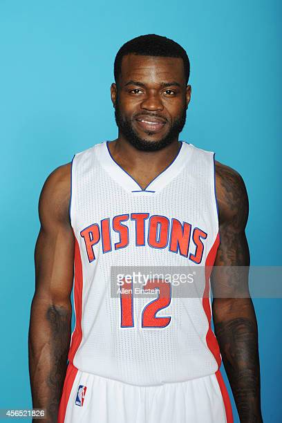 Will Bynum of the Detroit Pistons poses during Detroit Pistons Media Day on September 29 2014 in Auburn Hills Michigan NOTE TO USER User expressly...