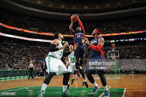 Will Bynum of the Detroit Pistons shoots against the Boston Celtics on March 9 2014 at the TD Garden in Boston Massachusetts NOTE TO USER User...