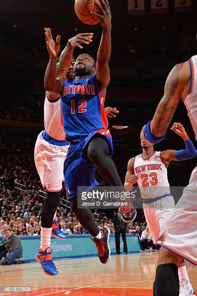 Will Bynum of the Detroit Pistons shoots against the New York Knicks on January 7 2014 at Madison Square Garden in New York City New York NOTE TO...
