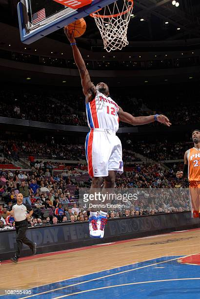 Will Bynum of the Detroit Pistons shoots against the Phoenix Suns in a game on January 22 2011 at The Palace of Auburn Hills in Auburn Hills Michigan...
