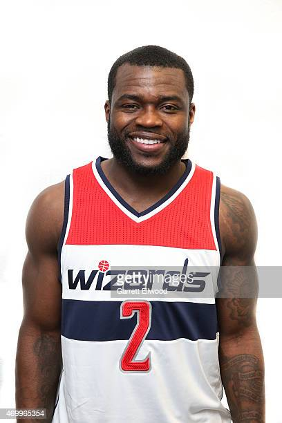 Will Bynum of the Washington Wizards poses for a portrait before a game against the Cleveland Cavaliers on April 15 2015 at Quicken Loans Arena in...