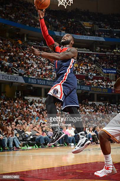 Will Bynum of the Washington Wizards shoots the ball against the Cleveland Cavaliers on April 15 2015 at Quicken Loans Arena in Cleveland Ohio NOTE...
