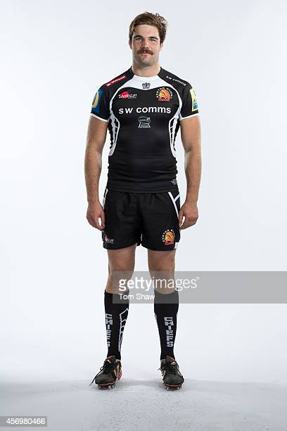 Will Carrick Smith of Exeter Chiefs poses for a picture during the BT Photo Shoot at Sandy Park on August 26 2014 in Exeter England