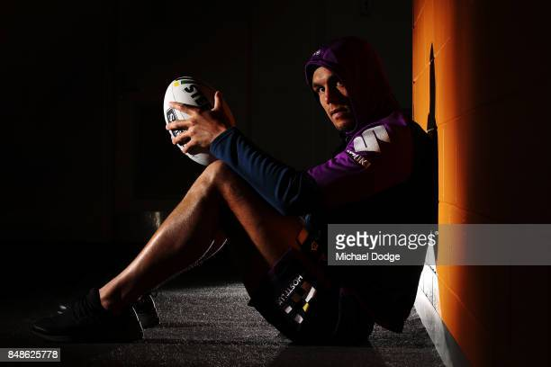 Will Chambers of the Storm poses during a Melbourne Storm NRL training session at AAMI Park on September 18 2017 in Melbourne Australia