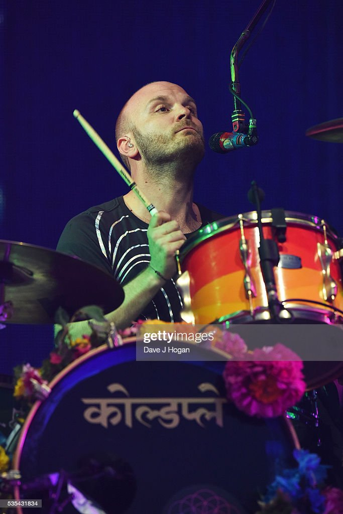 <a gi-track='captionPersonalityLinkClicked' href=/galleries/search?phrase=Will+Champion&family=editorial&specificpeople=750771 ng-click='$event.stopPropagation()'>Will Champion</a> of Coldplay performs during day 2 of BBC Radio 1's Big Weekend at Powderham Castle on May 29, 2016 in Exeter, England.