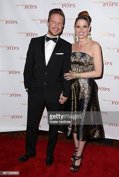 Will Chase and Debra Messing attend The New York Pops 31st Birthday Gala at the Mandarin Oriental Hotel on April 28 2014 in New York City