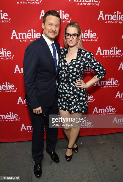 Will Chase and Ingrid Michaelson attend the Broadway Opening Night performance of 'Amelie' at the Walter Kerr Theatre on April 3 2017 in New York City