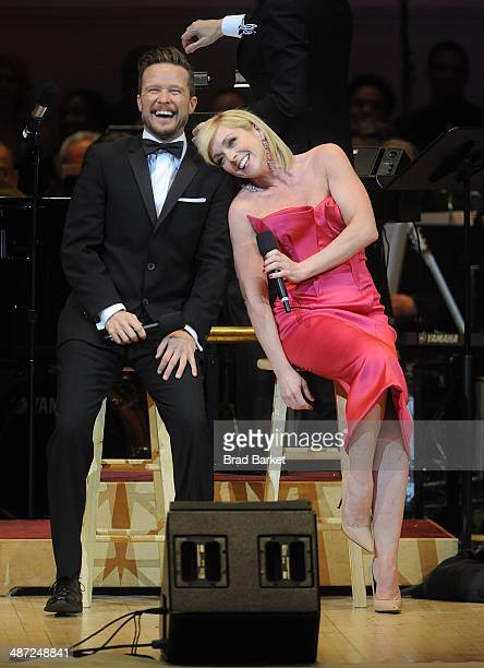 WIll Chase and Jane Krakowski perform during The New York Pops 31st Birthday Gala at Carnegie Hall on April 28 2014 in New York City