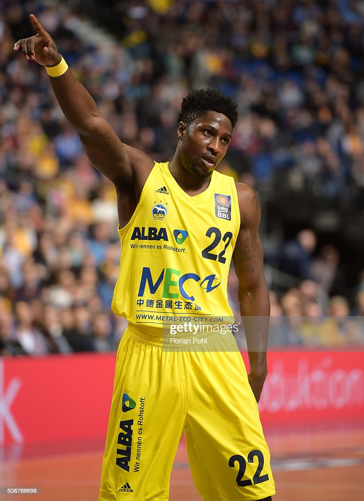 Will Cherry of ALBA Berlin during the game between Alba Berlin and the MHP Riesen Ludwigsburg on february 6, 2016 in Berlin, Germany.