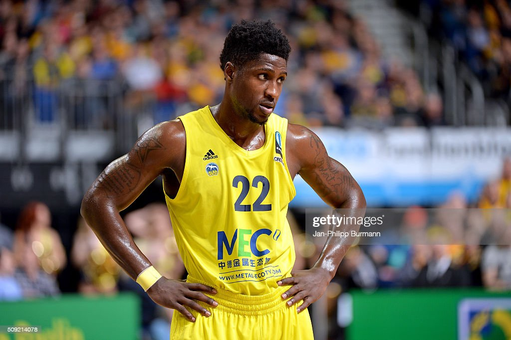 Will Cherry of ALBA Berlin during the game between Alba Berlin and Neptunas Klaipeda on February 9, 2016 in Berlin, Germany.