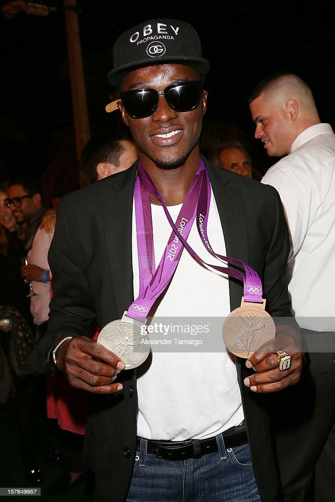 <a gi-track='captionPersonalityLinkClicked' href=/galleries/search?phrase=Will+Claye&family=editorial&specificpeople=8138118 ng-click='$event.stopPropagation()'>Will Claye</a> attends FENDI Casa's Art Basel cocktail party honoring the contemporary artwork of Andy Warhol with Elle Decor at FENDI Casa Luxury Living Showroom on December 6, 2012 in Miami, Florida.