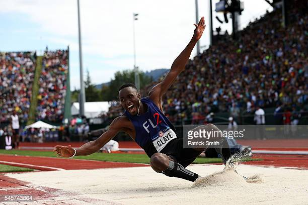 Will Claye first place competes in the Men's Triple Jump Final during the 2016 US Olympic Track Field Team Trials at Hayward Field on July 9 2016 in...