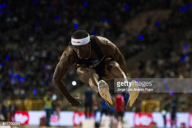 Will Claye of the United States competes in men's Triple jump during the AG Insurance Memorial Van Damme as part of the IAAF Diamond League 2017 at...