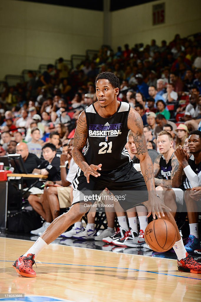 Will Clyburn #21 of the Sacramento Kings dribbles the ball versus the Atlanta Hawks during NBA Summer League on July 19, 2013 at the Cox Pavilion in Las Vegas, Nevada.