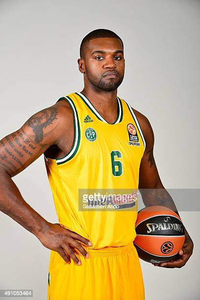Will Daniels #6 of Limoges CSP pose during the 2015/2016 Turkish Airlines Euroleague Basketball Media Day at Beaublanc on September 23 2015 in...