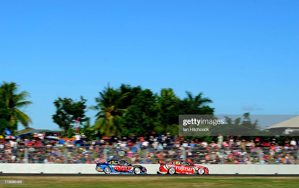 Will Davison drives the #6 Ford's Pepsi Max Crew Ford during race 21 of the Townsville 400, which is round seven of the V8 Supercar Championship Series at Reid Park on July 7, 2013 in Townsville, Australia.