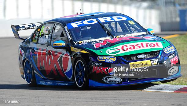 Will Davison drives the Fords's Pepsi Max Crew Ford during practice for the Townsville 400 which is round seven of the V8 Supercar Championship...