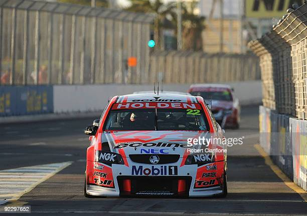 Will Davison drives the Holden Racing Team Holden Ford into pitlane during qualifying for round 11 of the V8 Supercar Championship Series at the...