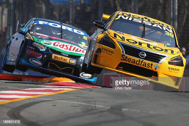 Will Davison drives the Pepsi Max Crew FPR Ford and Michael Caruso drives the Norton 360 Racing Nissan during race1 for the Gold Coast 600 which is...