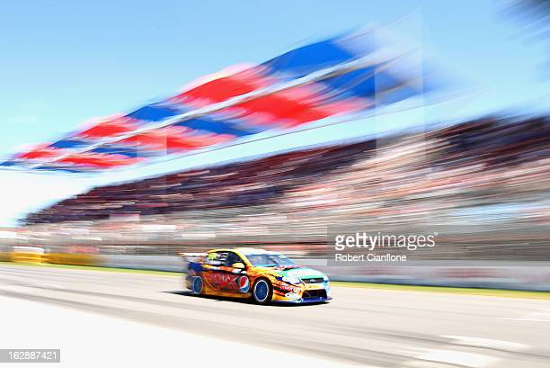 Will Davison drives the Pepsi Max Crew FPR Ford during qualifying for the Clipsal 500 which is round one of the V8 Supercar Championship Series at...