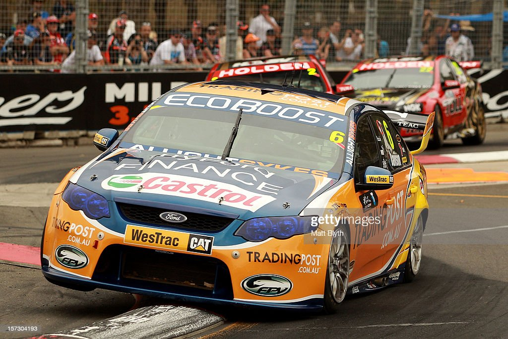 Will Davison drives the #6 Tradingpost FPR For during the Sydney 500, which is round 15 of the V8 Supercars Championship Series at Sydney Olympic Park Street Circuit on December 2, 2012 in Sydney, Australia.
