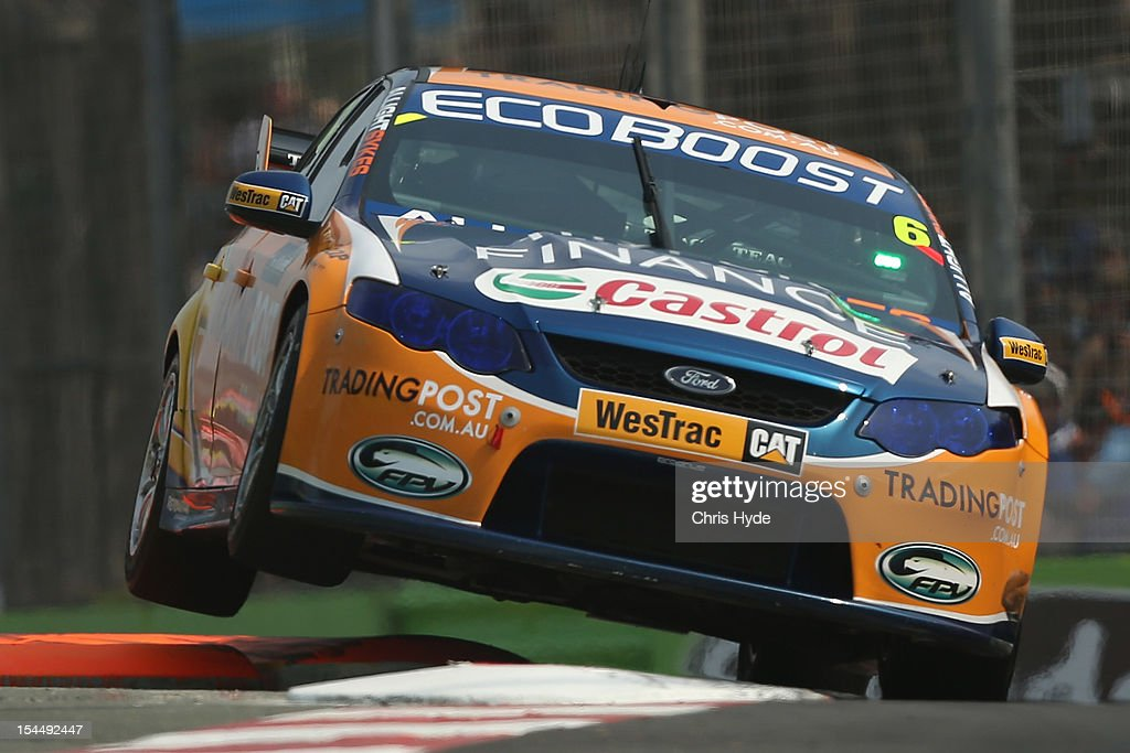 Will Davison drives the #6 Tradingpost FPR Ford during race 23 of the Gold Coast 600, which is round 12 of the V8 Supercars Championship Series at the Gold Coast Street Circuit on October 21, 2012 on the Gold Coast, Australia.