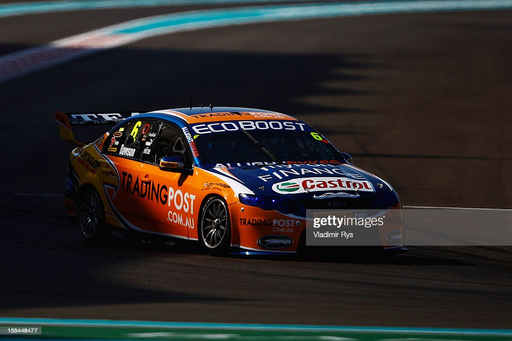 Will Davison driving the Trading Post Ford Falcon during the V8 Supercars race 3 at the Yas Marina Circuit on November 4, 2012 in Abu Dhabi, United Arab Emirates.