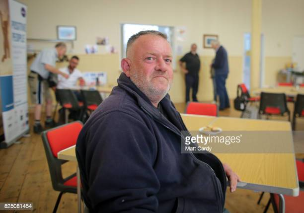 Will Eley a volunteer from the charity Transformation CPR poses for a photograph at the foodbank being run at the Camborne Centenary Methodist Church...