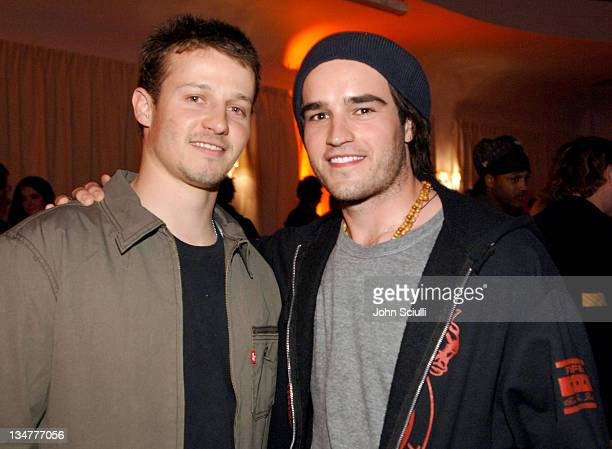 Will Estes and Justin Mentell during PAPER Magazine Motorola Present the Beautiful People Party West at Social Hollywood in Los Angeles California...