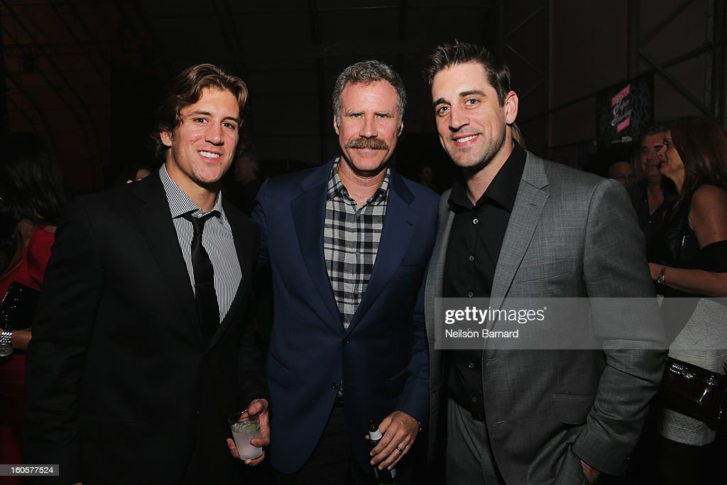 Will Ferrell and Aaron Rodgers attend DIRECTV Super Saturday Night Featuring Special Guest Justin Timberlake & Co-Hosted By Mark Cuban's AXS TV on February 2, 2013 in New Orleans, Louisiana.