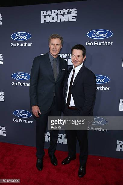 Will Ferrell and Mark Wahlberg attend the New York Premiere of 'Daddy's Home' at AMC Lincoln Square Theater on December 13 2015 in New York City