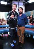 Will Ferrell and Zach Galifianakis Visit MuchMusic at MuchMusic HQ on July 30 2012 in Toronto Canada