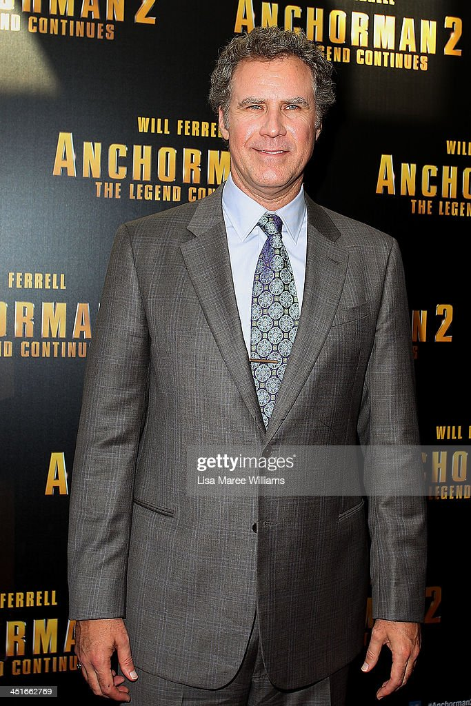 <a gi-track='captionPersonalityLinkClicked' href=/galleries/search?phrase=Will+Ferrell&family=editorial&specificpeople=171995 ng-click='$event.stopPropagation()'>Will Ferrell</a> arrives at the 'Anchorman 2: The Legend Continues' Australian premiere at The Entertainment Quarter on November 24, 2013 in Sydney, Australia.