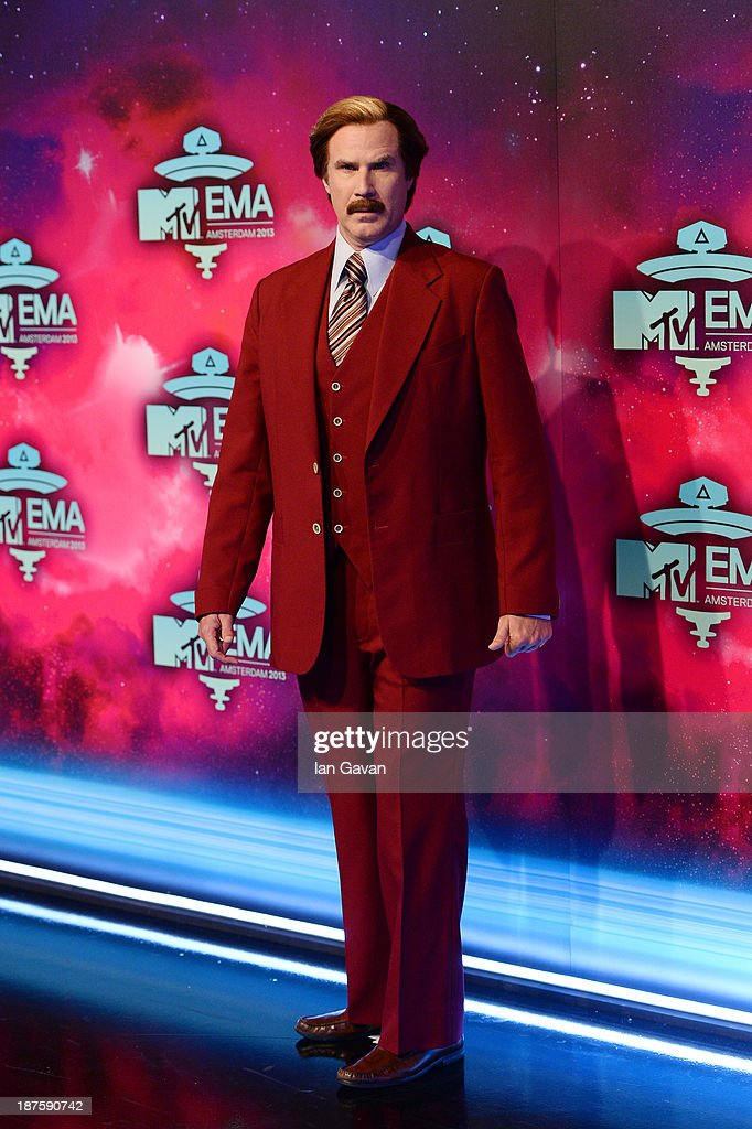 <a gi-track='captionPersonalityLinkClicked' href=/galleries/search?phrase=Will+Ferrell&family=editorial&specificpeople=171995 ng-click='$event.stopPropagation()'>Will Ferrell</a> as Anchorman's Ron Burgundy attends the MTV EMA's 2013 at the Ziggo Dome on November 10, 2013 in Amsterdam, Netherlands.