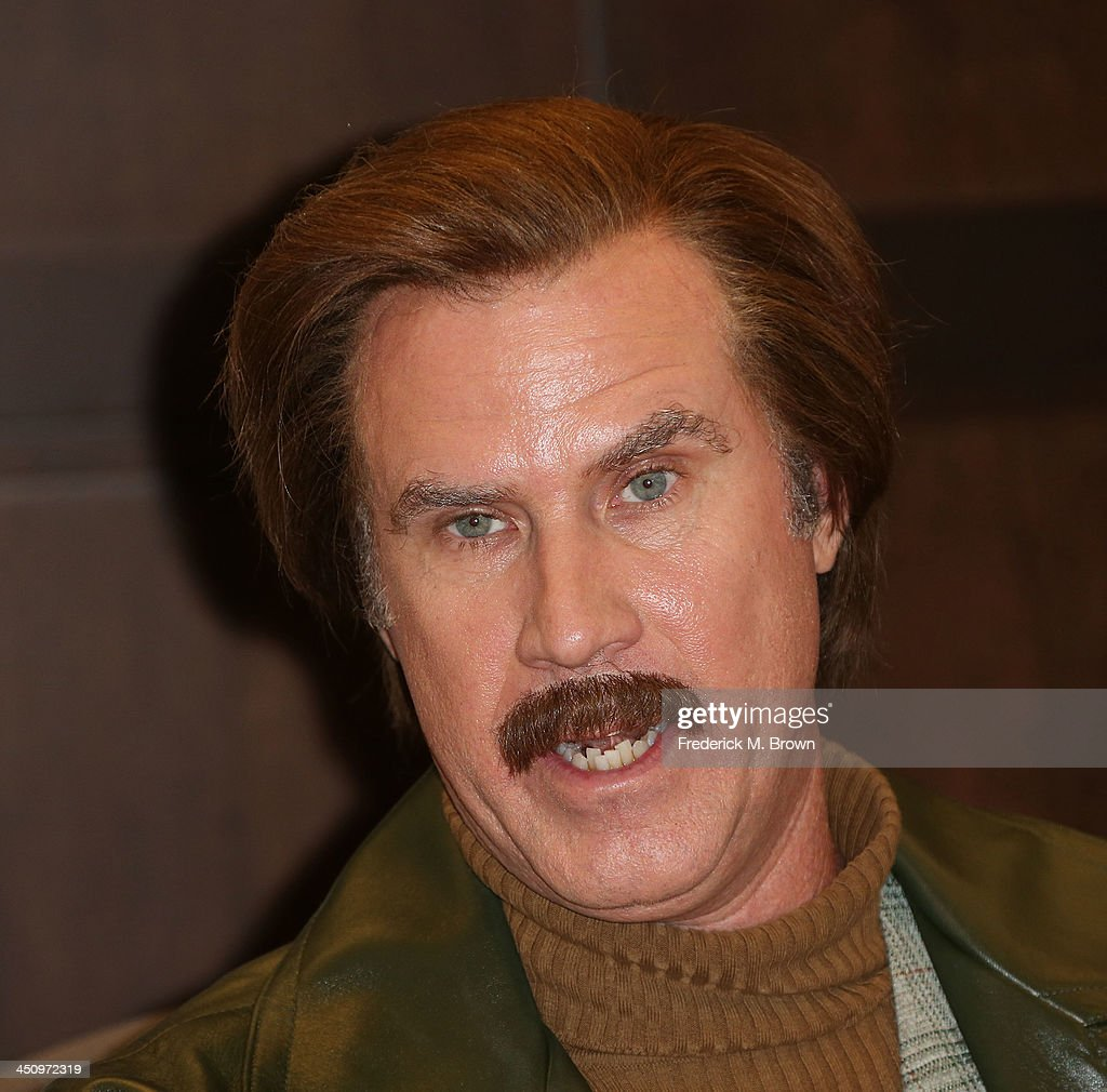 Will Ferrell as character Ron Burgundy signing for 'Let Me Off At The Top My Classy Life And Other Musings' at Barnes Noble bookstore at The Grove on...