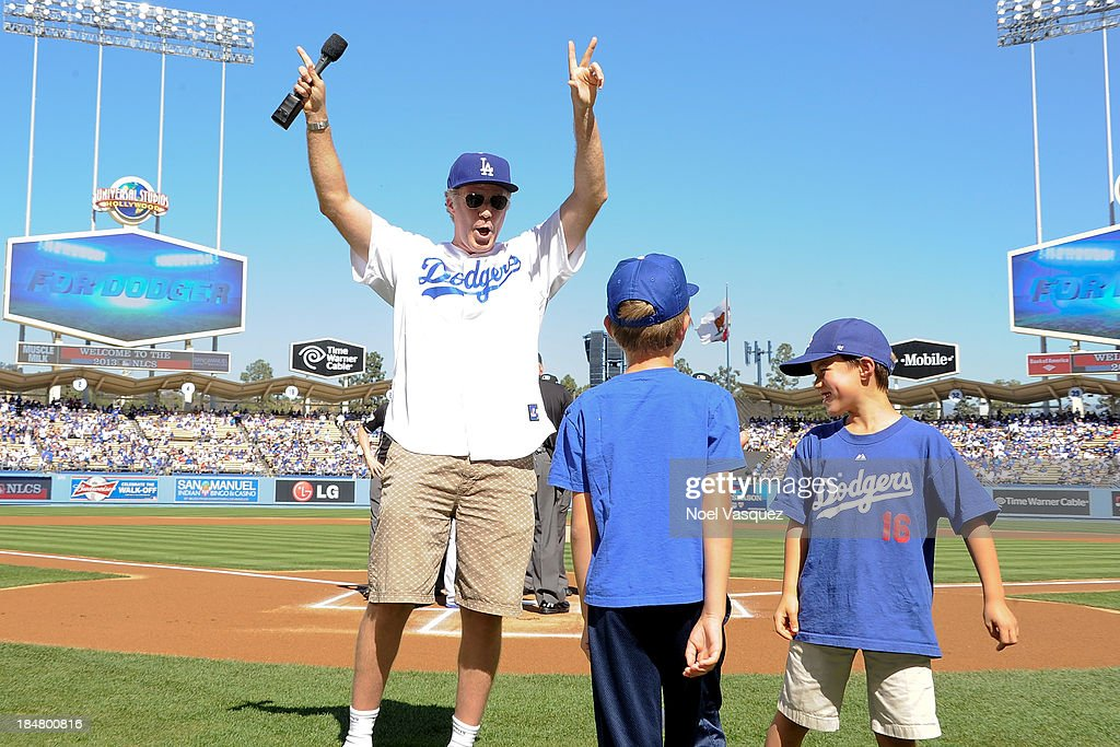 <a gi-track='captionPersonalityLinkClicked' href=/galleries/search?phrase=Will+Ferrell&family=editorial&specificpeople=171995 ng-click='$event.stopPropagation()'>Will Ferrell</a> attends Game Five of the National League Championship Series at Dodger Stadium on October 16, 2013 in Los Angeles, California.